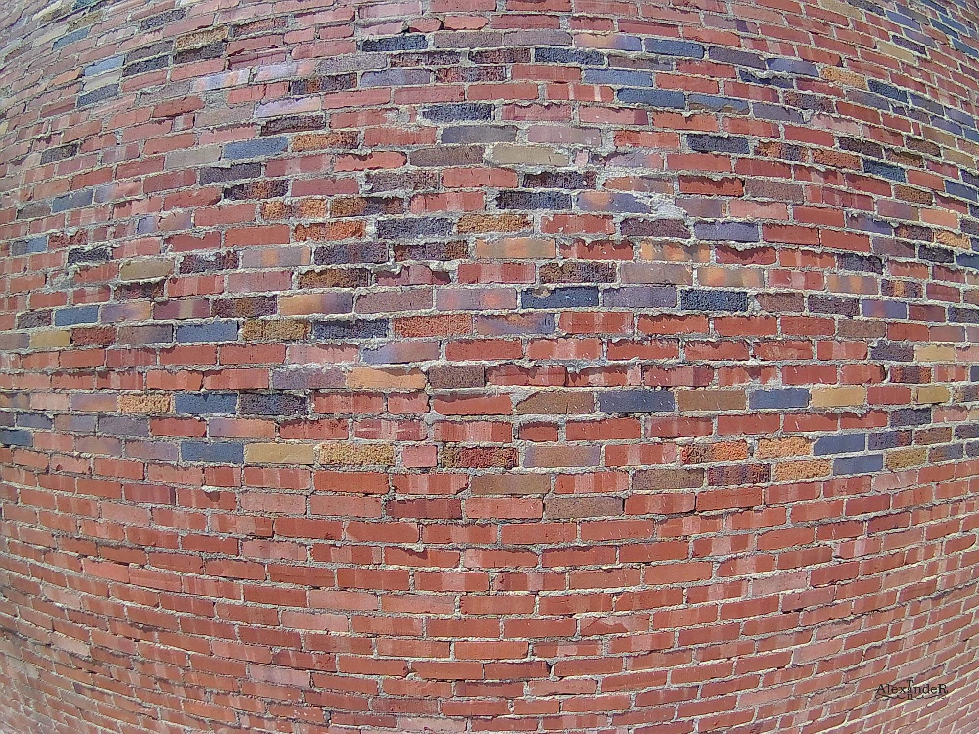 Brick Wall to Show Barrel distortion